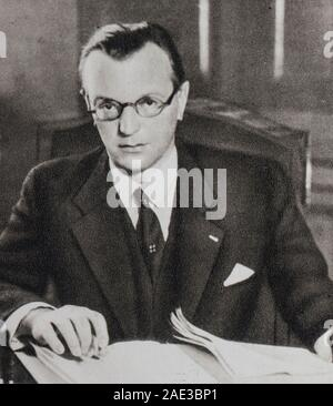 Arthur Seyss-Inquart (1892 – 1946) was an Austrian Nazi politician who served as Chancellor of Austria in 1938 for two days, before the annexation of - Stock Photo