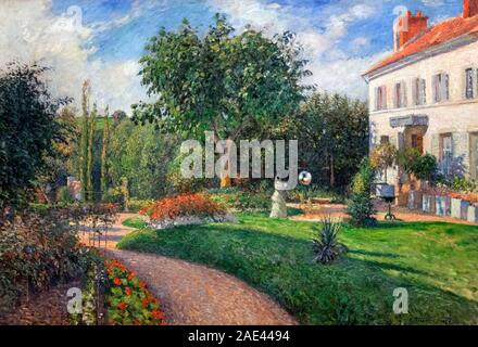 The Garden of Les Mathurins at Pontoise by Camille Pissarro (1830-1903), oil on canvas, 1876 - Stock Photo