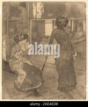 Mary Cassatt at the Louvre: The Etruscan Gallery; 1879/1880 Edgar Degas, Mary Cassatt at the Louvre - The Etruscan Gallery, 1879-1880 - Stock Photo