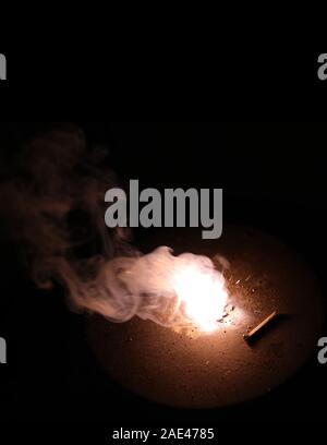 Smoke of diwali fastival of colors, festival fireworks backgrounds - Stock Photo
