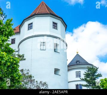 Tower of Castle Hartenfels Altstadt Torgau Saxony Germany. - Stock Photo