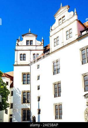 Castle Hartenfels Aldstadt Torgau Saxony Germany. - Stock Photo