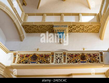 Castle Hartenfels chapel the first Protestant church in the world, Altstadt Torgau Saxony Germany. - Stock Photo