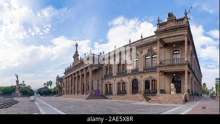 Government Palace of Nuevo León, Neoclassical style building, in Monterrey, Mexico - Stock Photo