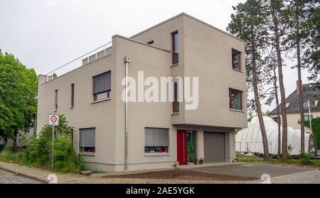 House in Bauhaus style in Dessau Saxony-Anhalt Germany. - Stock Photo