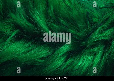 Close up Aqua Menthe Beautiful Fur background texture. - Stock Photo
