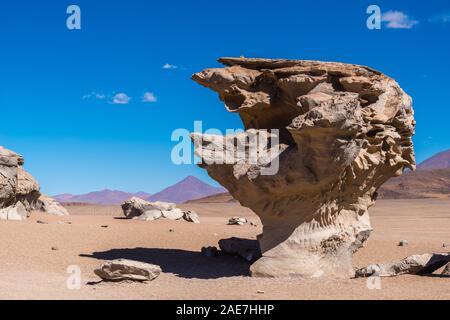 Arbol de Piedra, Desierto de Sololi, Sololi Dersert, Southern Altiplano, Southwest Bolivia, Latin America, - Stock Photo