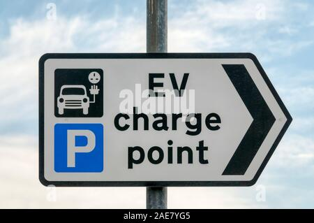 The Sign For Charging Electric Vehicles In A Wiltshire