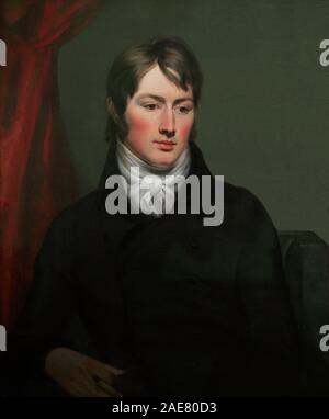 John Constable (1776-1837). Pintor paisajista inglés. Movimiento Romanticista. Retrato realizado por Ramsay Richard Reinagle (1775-1862). Oleo sobre lienzo, h.1799. National Portrait Gallery. Londres. Inglaterra. - Stock Photo