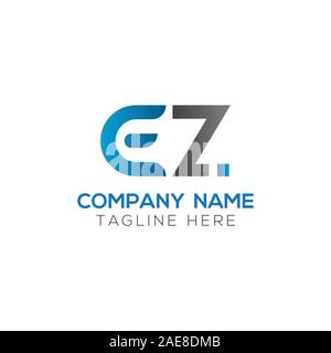 Initial EZ Letter Linked Logo. Creative Letter EZ Modern Business Logo Vector Template. Initial EZ Logo Template Design - Stock Photo