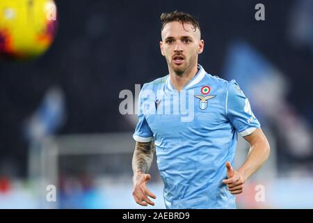 Manuel Lazzari of Lazio in action during the Italian championship Serie A football match between SS Lazio and Juventus on December 7, 2019 at Stadio Olimpico in Rome, Italy - Photo Federico Proietti/ESPA-Images - Stock Photo