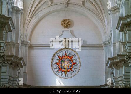 Counterfacade in 'Our Lady of the Assumption' Cathedral in Granada. Andalusia, Spain, June-03-2019 - Stock Photo