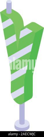 Y birthday candle icon, isometric style - Stock Photo