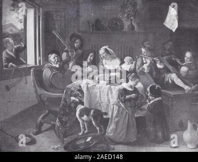 'A Happy Family' by Jan Steen. - Stock Photo