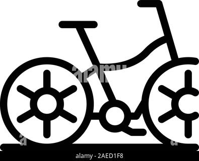 Bicycle icon, outline style - Stock Photo