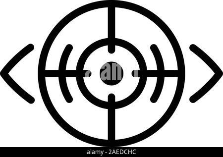 Laser eye correction icon, outline style - Stock Photo