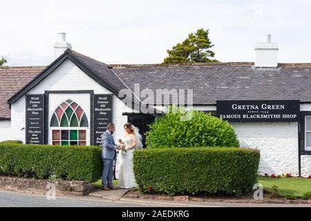 Gretna Green Famous Blacksmiths Shop, Gretna Green, Gretna, Dumfries and Galloway, Scotland, United Kingdom - Stock Photo