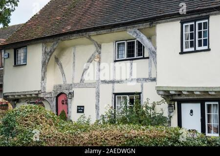 An ancient timber framed cottage in the village of Weavering, Kent, UK - Stock Photo
