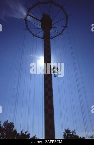 Old Parachute Jump in Coney Island, New York - Stock Photo