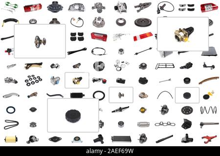 Parts For Cars >> Collage Of Various Auto Parts For Cars And Trucks Stock
