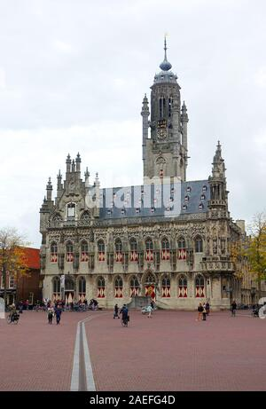 The Stadhuis, Middelburg, capital of the province of Zealand, Netherlands - Stock Photo