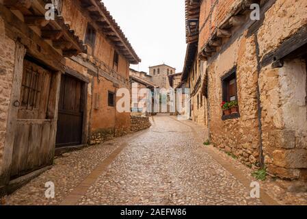 The medieval village of Calatanazor in Soria, Spain - Stock Photo