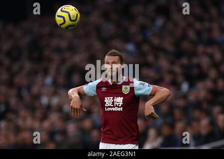 Erik Pieters of Burnley - Tottenham Hotspur v Burnley, Premier League, Tottenham Hotspur Stadium, London, UK - 7th December 2019  Editorial Use Only - DataCo restrictions apply - Stock Photo
