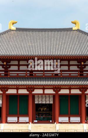 April 22, 2019: Traditional temple entrance in Nara, Japan. - Stock Photo