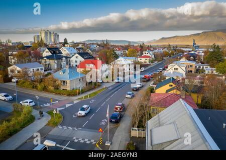 Neighborhoods, Reykjavik, Iceland - Stock Photo