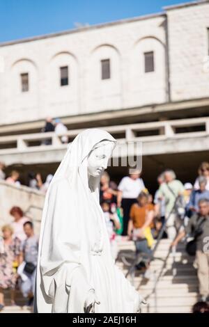 September 18, 2019. Nazareth, Israel. Statue of Virgin Mary - Stock Photo