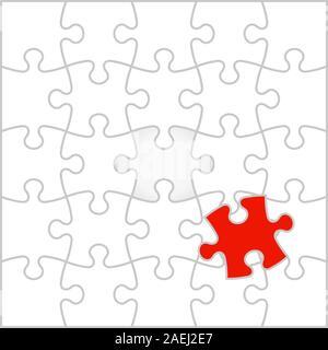 Background Vector Illustration jigsaw puzzle - Stock Photo