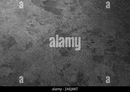 Texture of dark decorative plaster. Abstract background for design. Monochrome. - Stock Photo