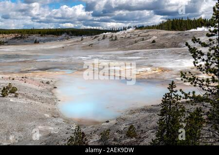 A view of  Geyser Basin, the hottest geyser basin in the Yellowstone  National Park, Wyoming, USA