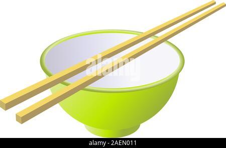Ceramic mug with wooden sticks. Vector illustration. - Stock Photo