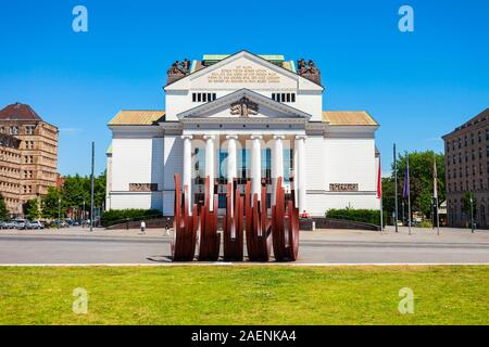 Duisburg Theatre is one of two opera houses located in Duisburg city, Germany - Stock Photo