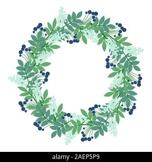 Floral wreath vector clipart illustration. Flower garland for craft and scrapbook. - Stock Photo