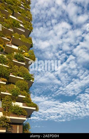 The modern Vertical Forest Palace in Milan, Italy - Stock Photo