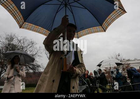 Washington DC, USA. 10th Dec, 2019. White House Deputy Press Secretary Hogan Gidley walks to talk to members of the media at the White House on December 10, 2019 in Washington, DC. Credit: Sipa USA/Alamy Live News - Stock Photo