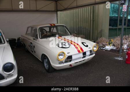 1964 Ford Lotus Cortina Mk1 Bathurst Goodwood Motor racing Chichester West Sussex - Stock Photo