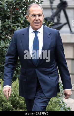Washington, USA. 10th Dec, 2019. Russian Foreign Minister Sergey Lavrov walks towards the West Wing of the White House to meet with President Donald Trump on December 10, 2019 in Washington, DC.(Photo by Oliver Contreras/SIPA USA) Credit: Sipa USA/Alamy Live News - Stock Photo