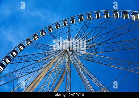 Budapest, Hungary - May 27, 2019: big paris wheel in the evening - Stock Photo
