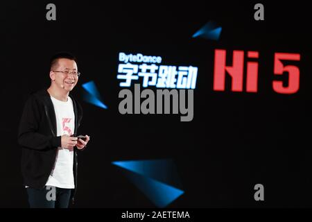 --FILE--Zhang Yiming, founder and CEO of tech company Bytedance, owner of Chinese personalized news aggregator Jinri Toutiao and short video platform Stock Photo