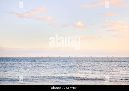 View of a beach at dawn in northern Spain. concept tourism and nature. - Stock Photo