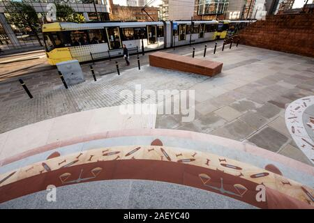 The Peterloo Memorial commemorating the Peterloo Massacre. Manchester, England. - Stock Photo
