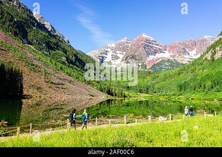 Aspen Usa July 8 2019 Morning With Sign Directions And