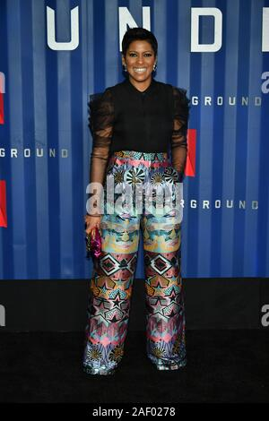 Tamron Hall attends Netflix's '6 Underground' New York Premiere at The Shed on December 10, 2019 in New York City. - Stock Photo