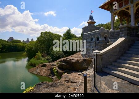 Belvedere Castle and Turtle Pond in Central Park, New York City.