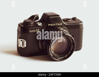 Worn out, Vintage Pentax Auto 110 analog camera