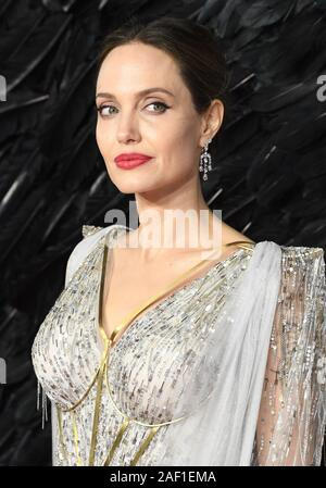 London, UK. 12th Dec, 2019. American actress Angelina Jolie attends the premiere of 'Maleficient: Mistress Of Evil' at the Odeon Imax Waterloo in London on October 9, 2019. Photo by Rune Hellestad/UPI Credit: UPI/Alamy Live News - Stock Photo