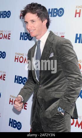New York, USA. 11th December, 2019. Eddie Redmayne attend HBO Docunentary Fims presents premiere of Finding The Way Home at 30 Hudson Yards in NewYork. Credit: RW/MediaPunch - Stock Photo